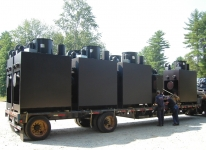 Shipment of completed wood furnaces
